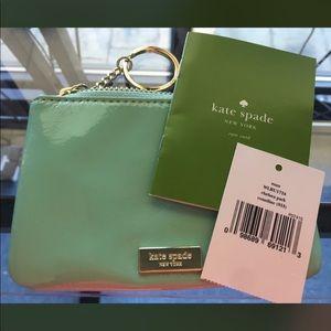 Kate Spade mint wristlet new!